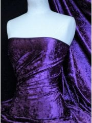 Crushed Velvet/Velour Stretch Material- Purple Passion Q156 PPLP