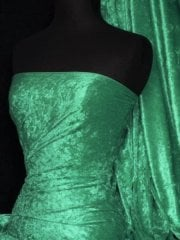 Crushed Velvet/Velour Stretch Material- Jade Q156 JD