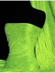 Crushed Velvet/Velour Stretch Material- Neon Green Q156 NGRN