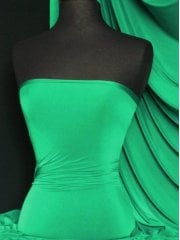 Clearance Silk Touch 4 Way Stretch Lycra Fabric- Emerald Green Q53 EMR