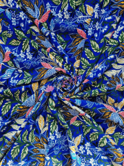 Smooth Touch Woven Blouse/Dress Fabric- Divine Royal Floral SMT39 RBLMLT