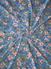 Crepe Blouse/Dress Crinkle Fabric- Cornflower Springs CRP10 BLMLT