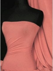 Viscose Cotton Stretch Lycra Fabric- Peach Melba Q300 PCHM