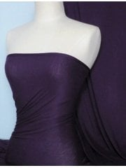 Viscose Cotton Stretch Lycra Fabric- Onyx Purple Q300 OPPL
