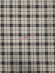 Cotton Lycra Jersey 4 Way Stretch Fabric- Mean Girl Tartan Beige SQ556 BGE