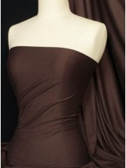 Cotton Lycra Jersey 4 Way Stretch Fabric - Chocolate Brown Q35 CHBR