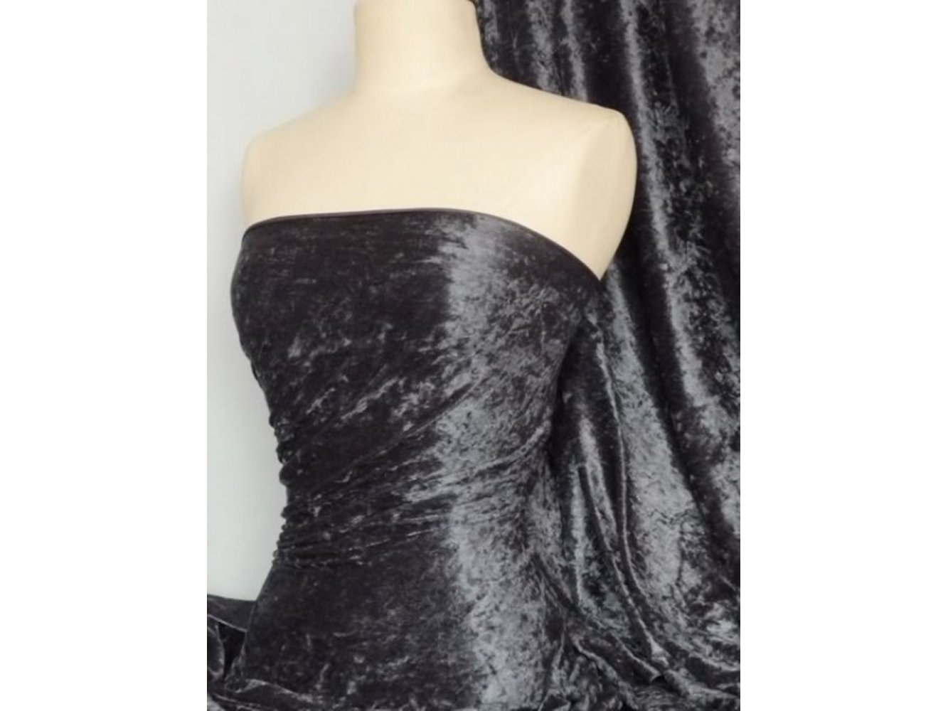 Crushed Velvet/Velour Stretch Material- Electric Blue Q156