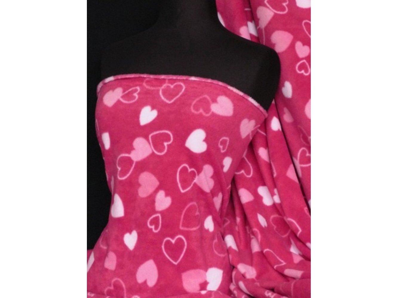 Polar Fleece Anti Pill Washable Soft Fabric- Cerise Pink
