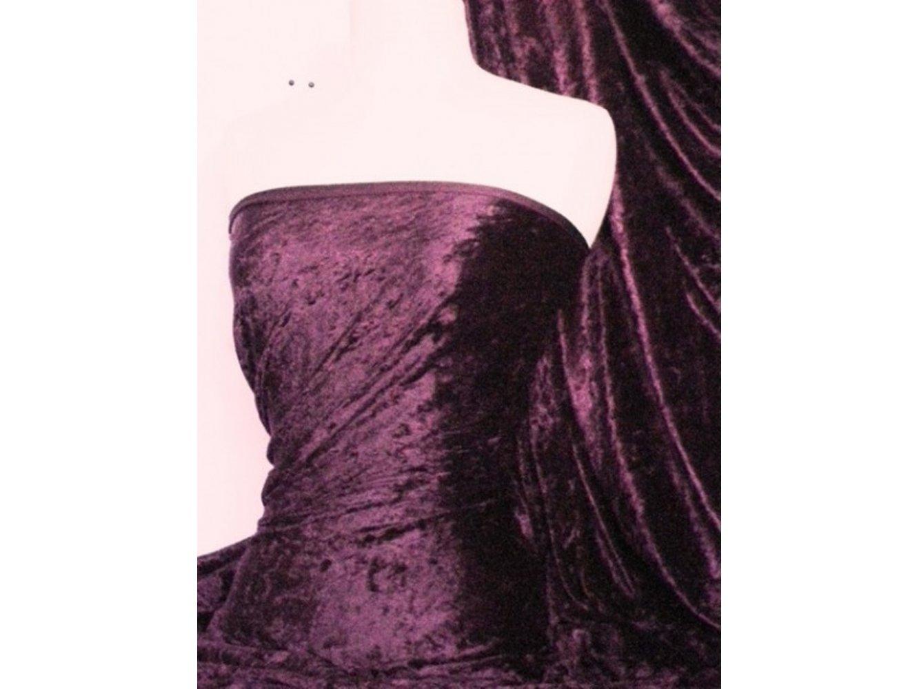 Crushed Velvet/Velour Stretch Material- Cerise Q156 CRS