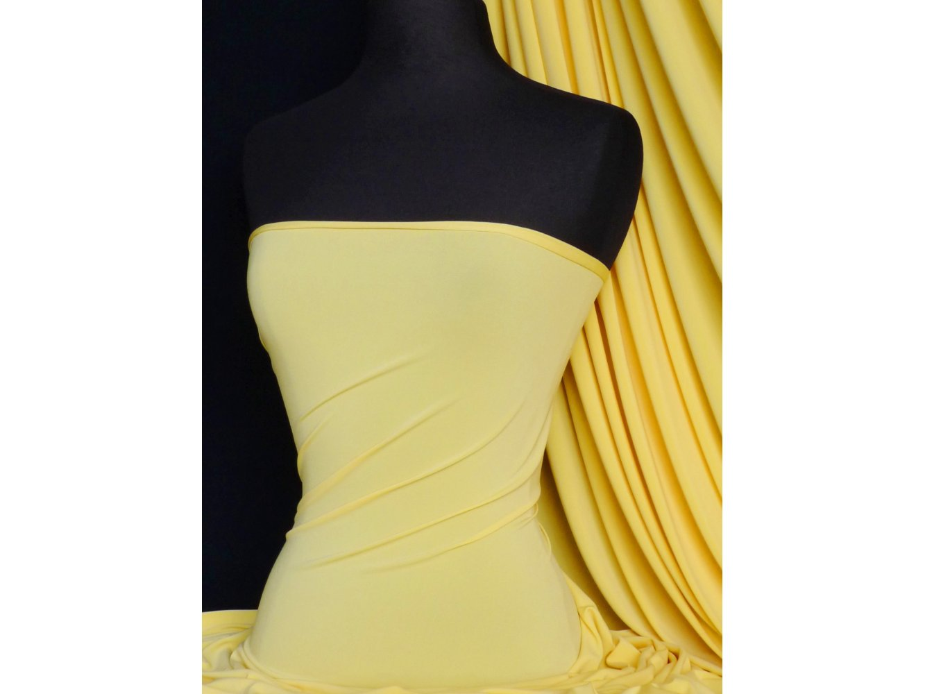 Yellow 4 Way Stretch Soft Touch Lycra Jersey Fabric