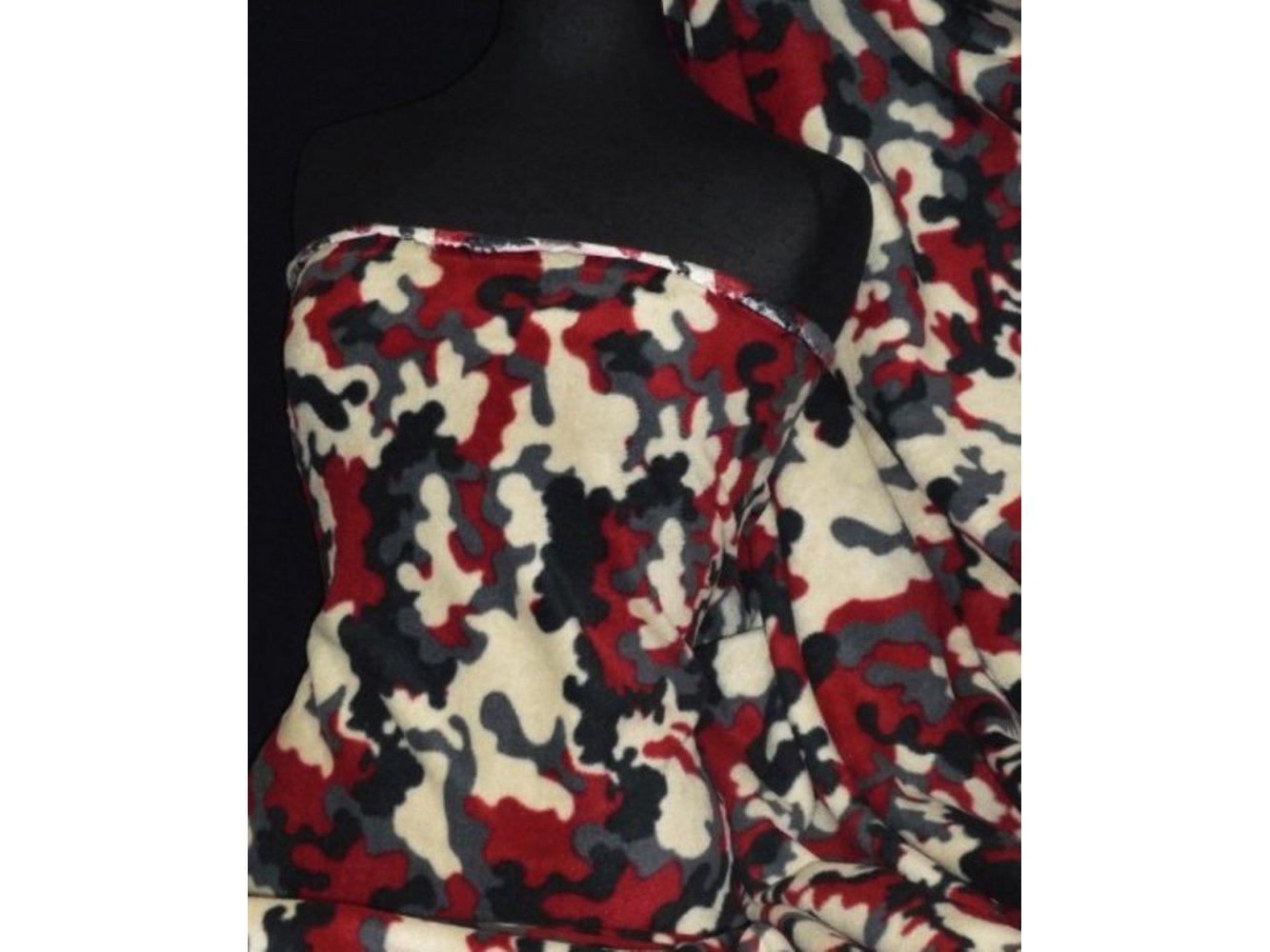 Polar Fleece Anti Pill Washable Soft Fabric- Multi Check