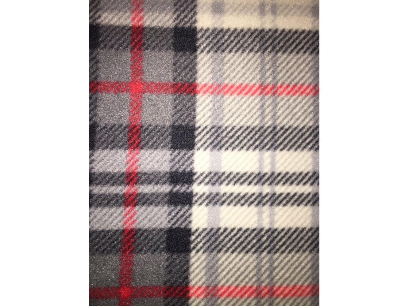Polar Fleece Anti Pill Washable Soft Fabric- Scottish Grey