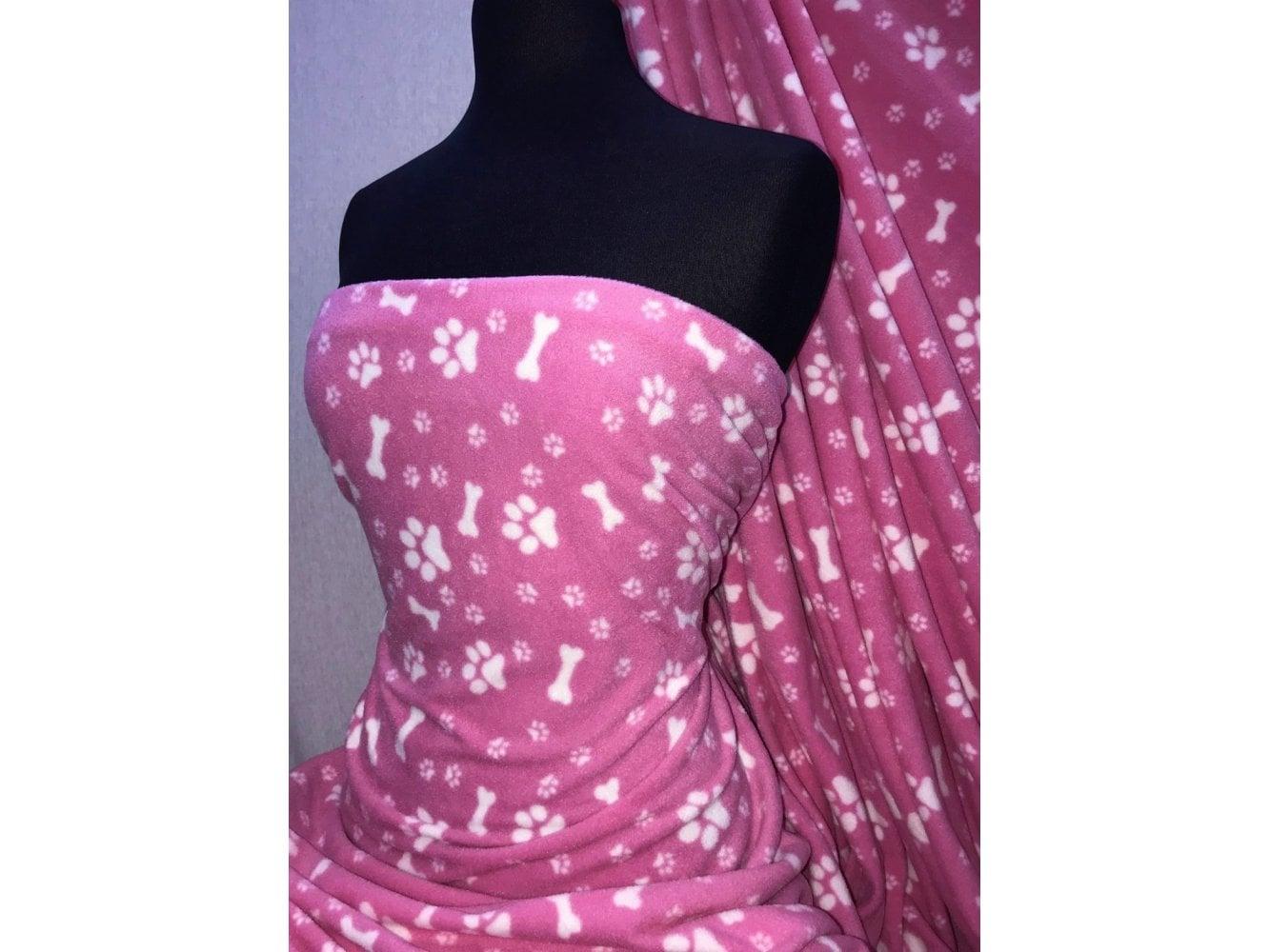 Polar Fleece Anti Pill Washable Soft Fabric- Pink Multi Stripe