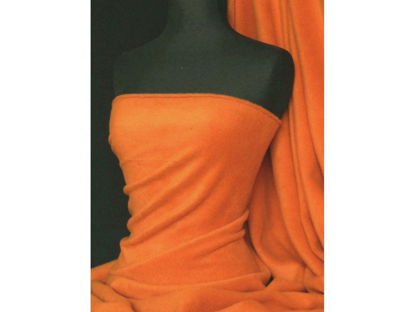 Polar Fleece Anti Pill Washable Soft Fabric- Orange PF OR