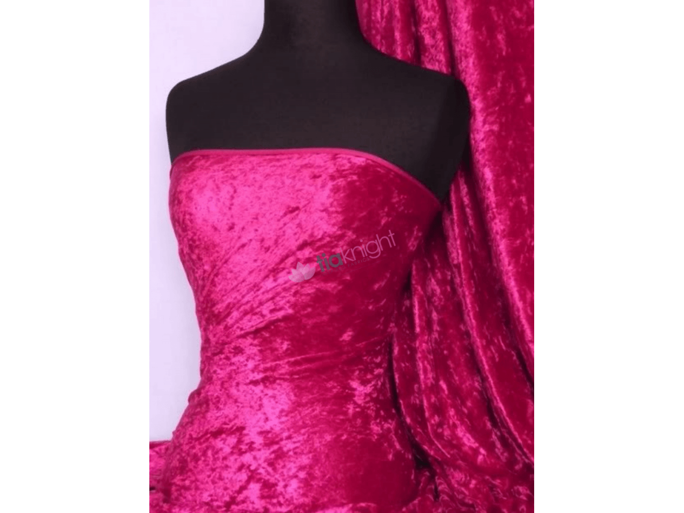 Crushed Velvet/Velour Stretch Material- Red Q156 RD